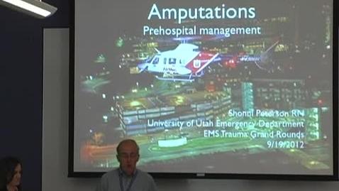 Thumbnail for entry Amputations September 19, 2012