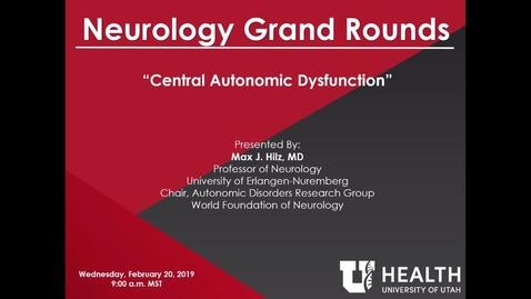 Thumbnail for entry Central Autonomic Dysfunction