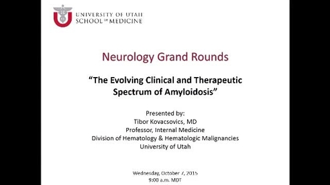 Thumbnail for entry The Evolving Clinical Therapeutic Spectrum of Amyloidosis