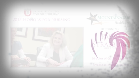 Thumbnail for entry Paula Strasburg MountainStar Healthcare Honoree
