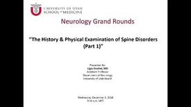 Thumbnail for entry The History and Physical Examination of Spine Disorders (Part 1)
