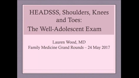 Thumbnail for entry Well-Adolescent Exam