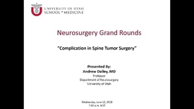 Thumbnail for entry Complication in Spine Tumor Surgery