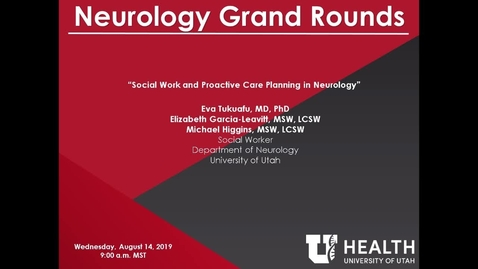 Thumbnail for entry Social Work and Proactive Care Planning in Neurology