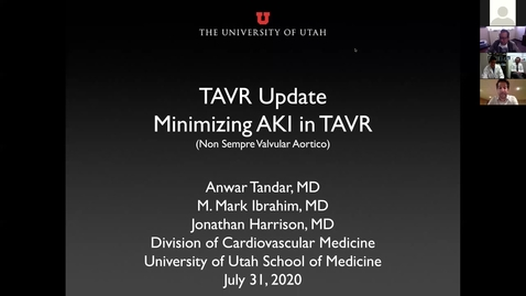 Thumbnail for entry TAVR update Minimizing AKI in TAVR