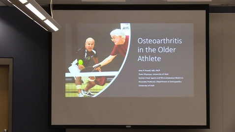 Thumbnail for entry Osteoarthritis in the older athlete