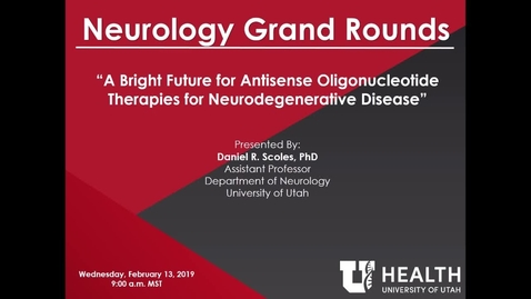 Thumbnail for entry A Bright Future for Antisense Oligonucleotide Therapies for Neurodegenerative Disease