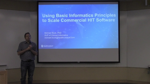 Thumbnail for entry Using Basic Informatics Principles to Scale Commercial HIT Software
