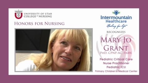 Thumbnail for entry IHC Recognizes Mary Jo Grant