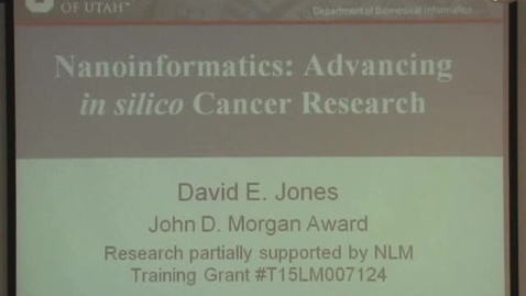 Thumbnail for entry Nanoinformatics: Advancing in silico Cancer Research