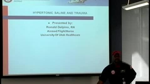 Thumbnail for entry Hypertonic saline & trauma July 20, 2011