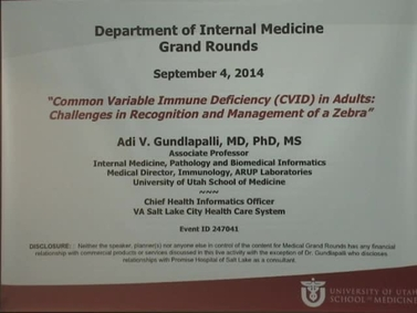 Grand Rounds - U of U School of Medicine | University of Utah