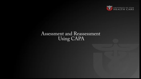 Thumbnail for entry Assessment and Reassessment Using CAPA, A Demonstration