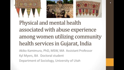 Thumbnail for entry Physical and mental health associated with abuse experience among women utilizing community health services in Gujarat, India