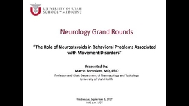 Thumbnail for entry The Role of Neurosteroids in Behavioral Problems Associated with Movement Disorders