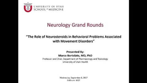The Role of Neurosteroids in Behavioral Problems Associated with Movement Disorders