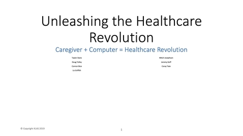Thumbnail for entry Unleashing the Healthcare Revolution