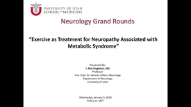 Thumbnail for entry Exercise as Treatment for Neuropathy Associated with Metabolic Syndrome