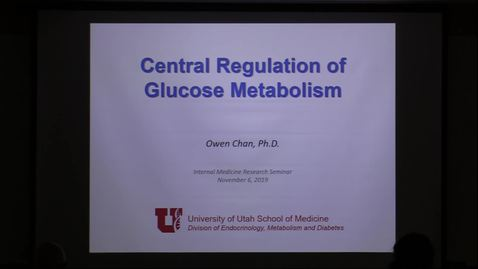 Thumbnail for entry Central regulation of glucose metabolism