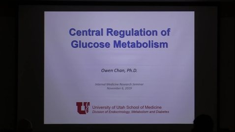 Thumbnail for entry Central regulation of glucose metabolism/ Reproductive lifespan as a marker of overall health