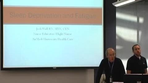 Thumbnail for entry Sleep deprivation & fatigue November 16, 2011