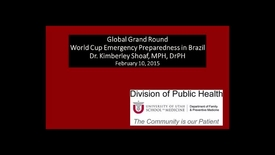 Thumbnail for entry World Cup Emergency Preparedness in Brazil