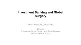 Thumbnail for entry John Meara, MD, DMD, MBA