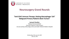 Thumbnail for entry Neurosurgery Grand Rounds 02-22-2017