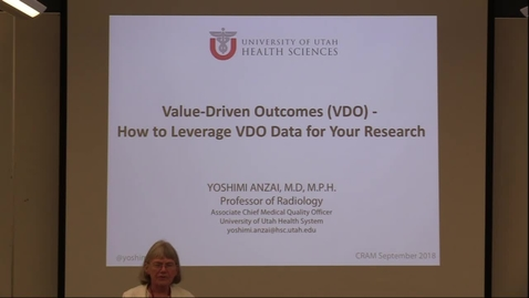 Thumbnail for entry Value-driven outcomes (VDO): How to leverage VDO data for your research