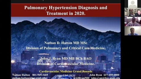 Thumbnail for entry Pulmonary hypertension diagnosis & treatment in 2020