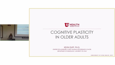 Thumbnail for entry Cognitive Plasticity in Older Adults