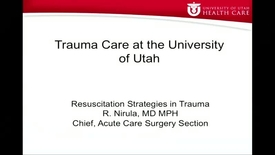 Thumbnail for entry 4/21/16 Resuscitation Strategies in Trauma
