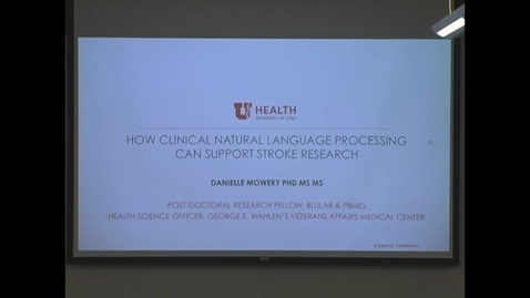 Thumbnail for entry How Clinical Natural Language Processing Can Support Stroke Research