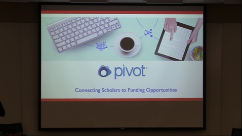 Thumbnail for entry PIVOT research database