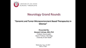 Thumbnail for entry Genomic and Tumor Microenvironment Based Therapeutics in Gliomas