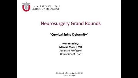 Thumbnail for entry Cervical Spine Deformity