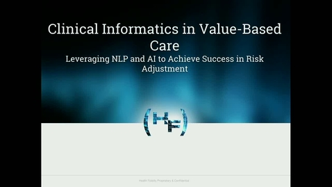Thumbnail for entry Clinical Informatics in Value-Based Care