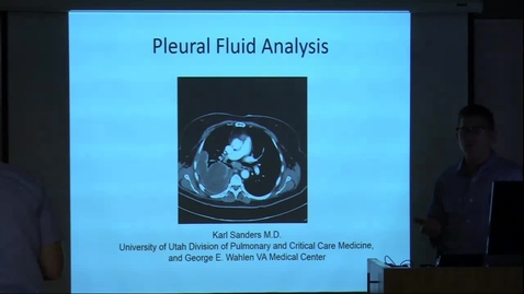 Thumbnail for entry Pleural Fluid Analysis