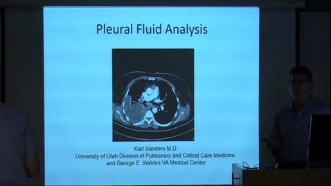 Thumbnail for entry Pleural Fluid Analysis