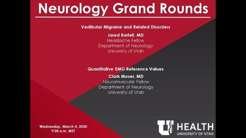 Thumbnail for entry Vestibular Migraine and Related Disorders / Quantitative EMG Reference Values