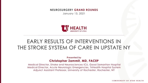 Thumbnail for entry Early Results of Interventions in the Stroke System of Care in Upstate NY