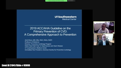 Thumbnail for entry The 2019 ACC/AHA Guideline on the Primary Prevention of CVD: A Comprehensive Approach to Prevention