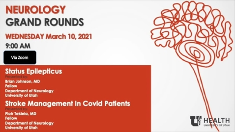 """Thumbnail for entry """"Status Epilepticus"""" & """"Stroke Management in Covid Patients"""""""