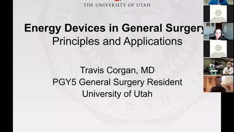 Thumbnail for entry 11/4/2020 Energy Devices in General Surgery:  Principles and Applications