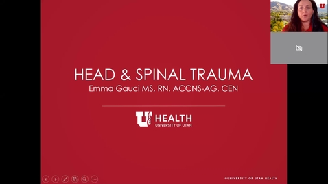 Thumbnail for entry Head and Spinal Trauma