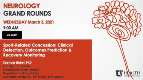 Thumbnail for entry Sport-Related Concussion: Clinical Detection, Outcomes Prediction & Recovery Monitoring