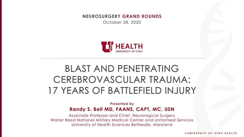 Thumbnail for entry Blast and Penetrating Cerebrovascular Trauma: 17 Years of Battlefield Injury