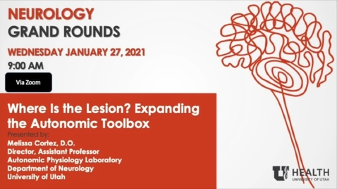 Thumbnail for entry Where is the Lesion? Expanding the Autonomic Toolbox