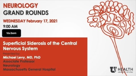 Thumbnail for entry Superficial Siderosis of the Central Nervous System