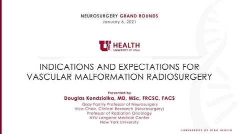 Thumbnail for entry Indications and Expectations for Vascular Malformation Radiosurgery